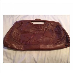 Elliot Lucca Genuine Leather Oversized Clutch